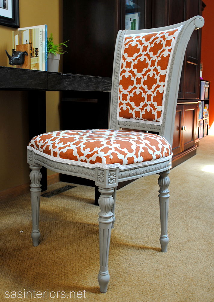 revamped reupholstered chair