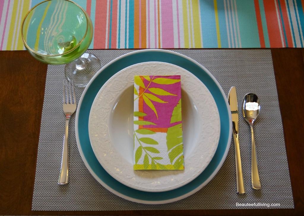 Summer Entertaining table setting