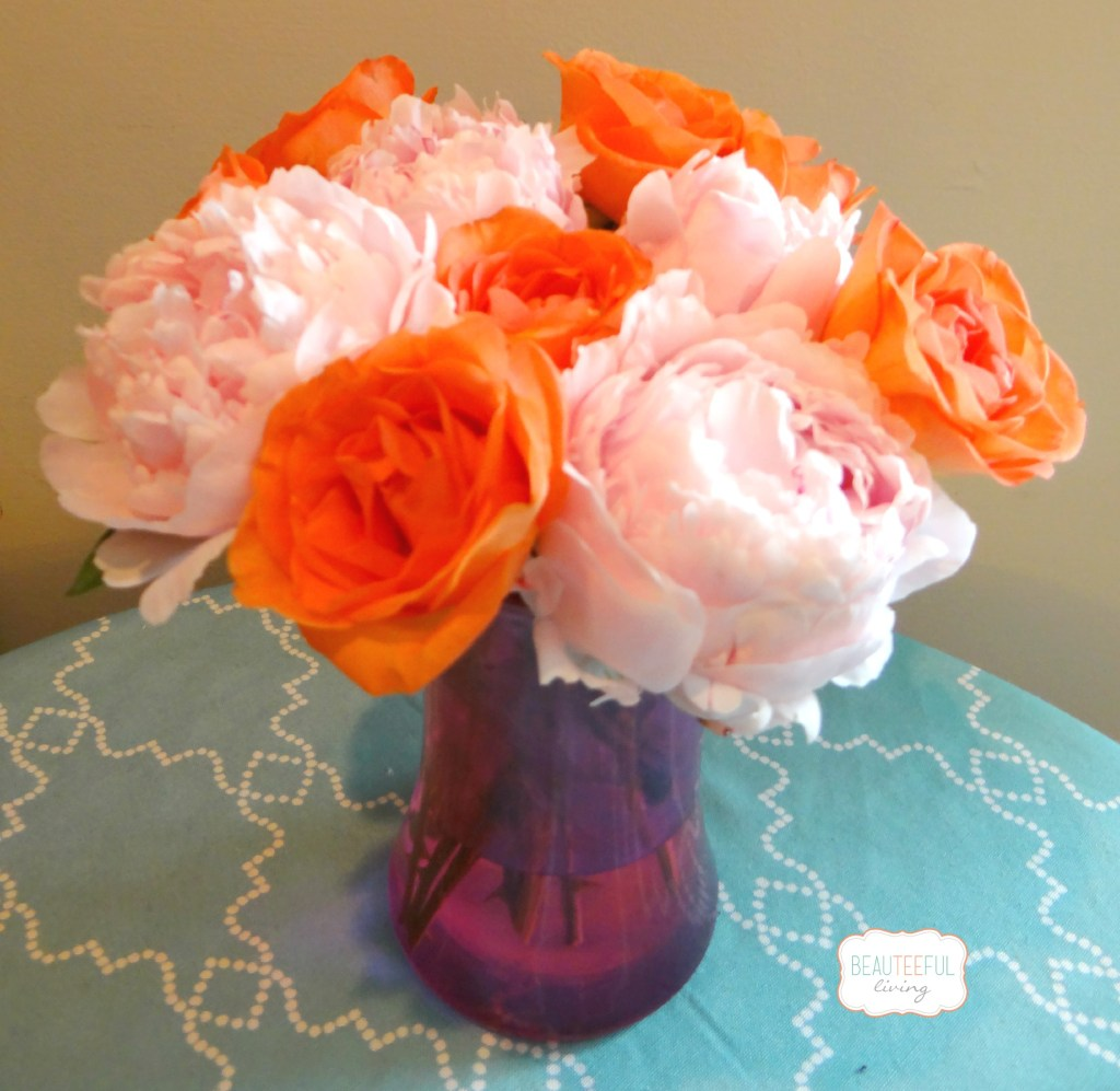 peonies and roses - beauteeful living