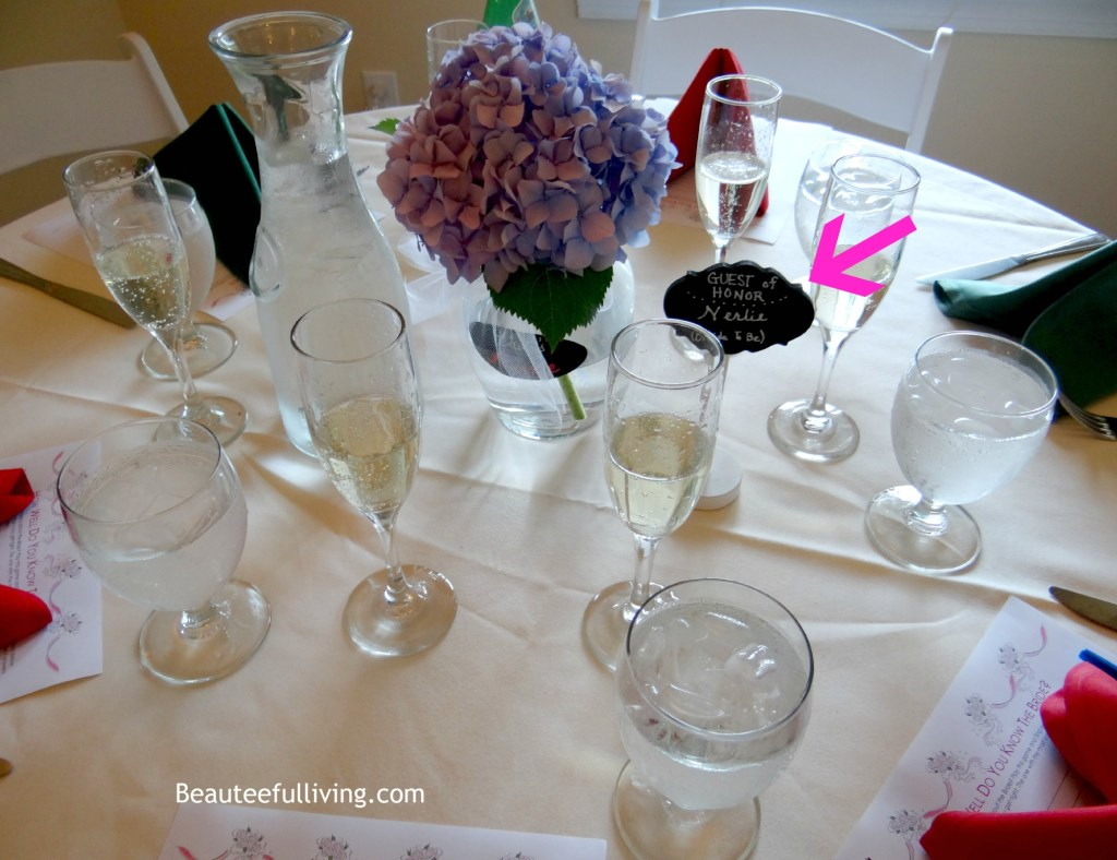 Bridal shower tablescape beauteefulliving