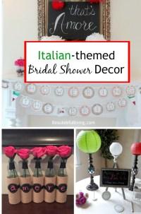 Italian Themed Bridal Shower Decor - BEAUTEEFUL Living