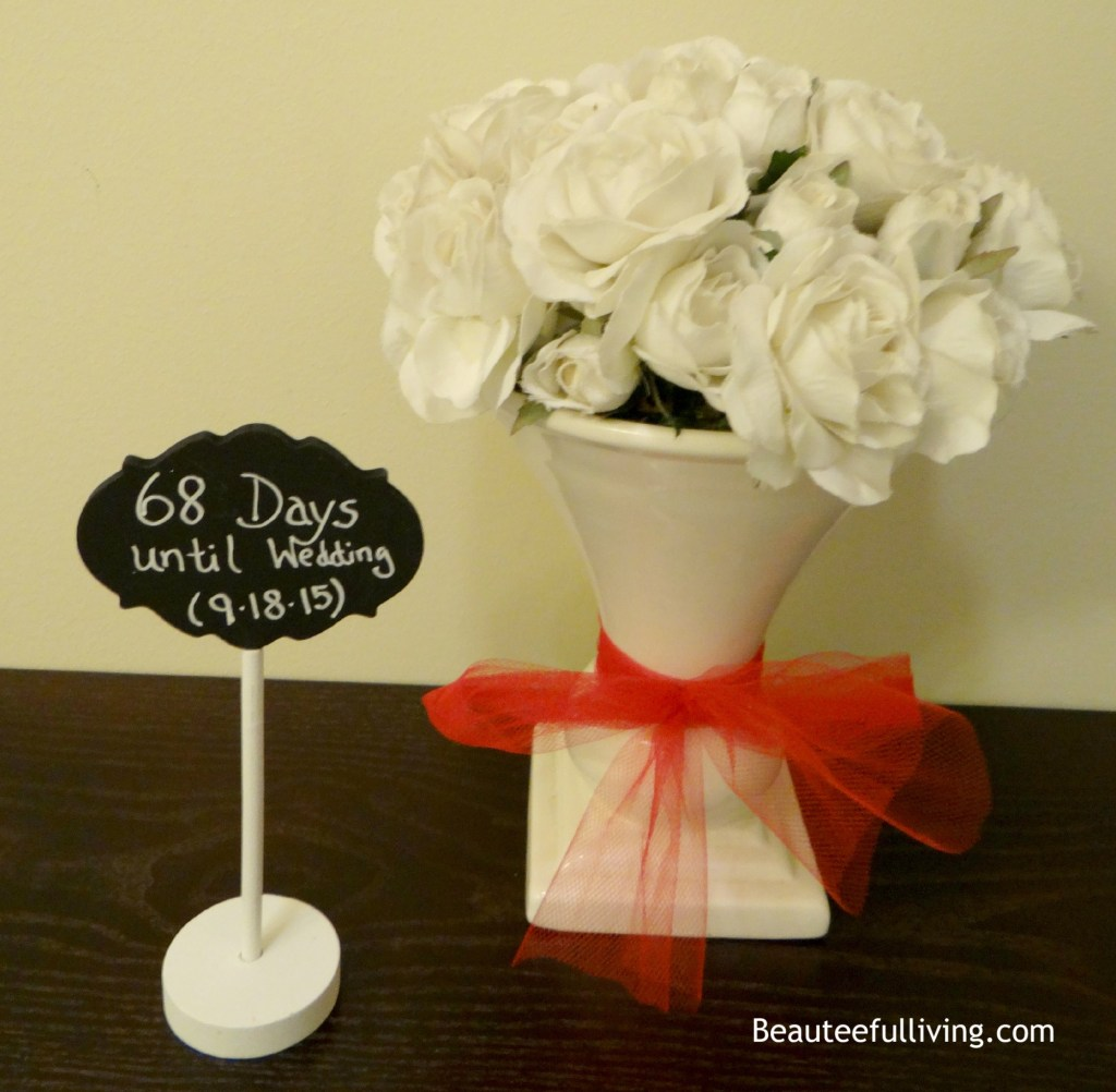 Wedding countdown display