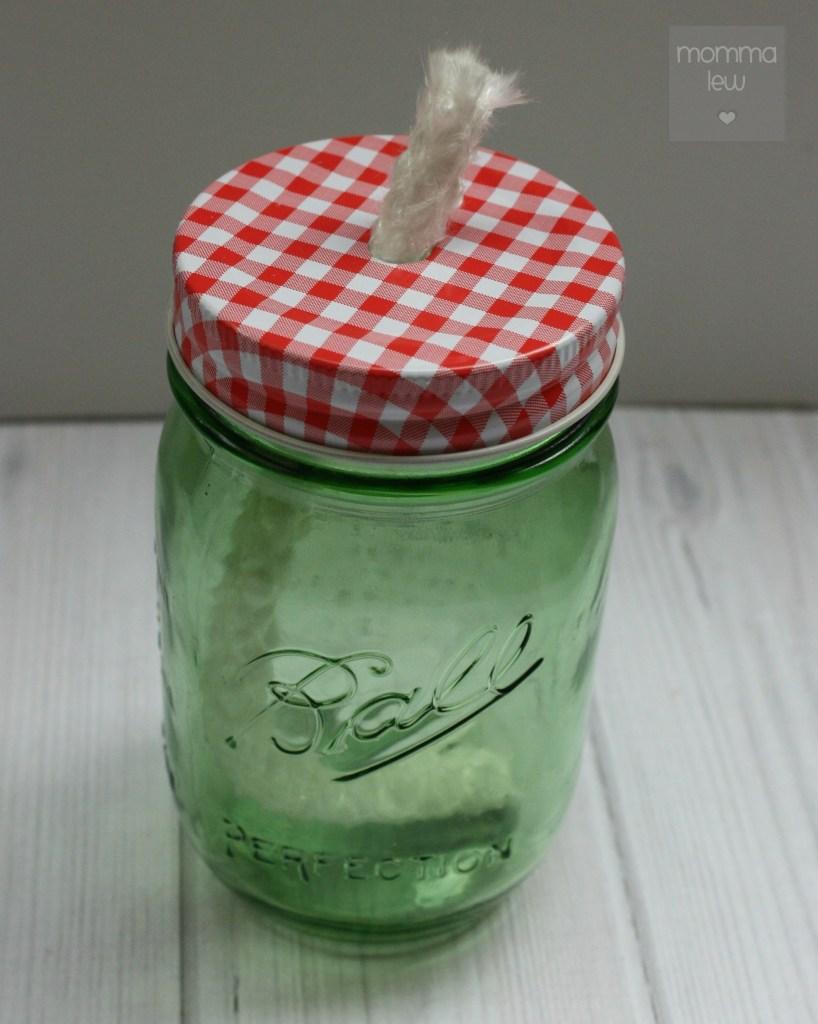 finished mason jar citronella candle