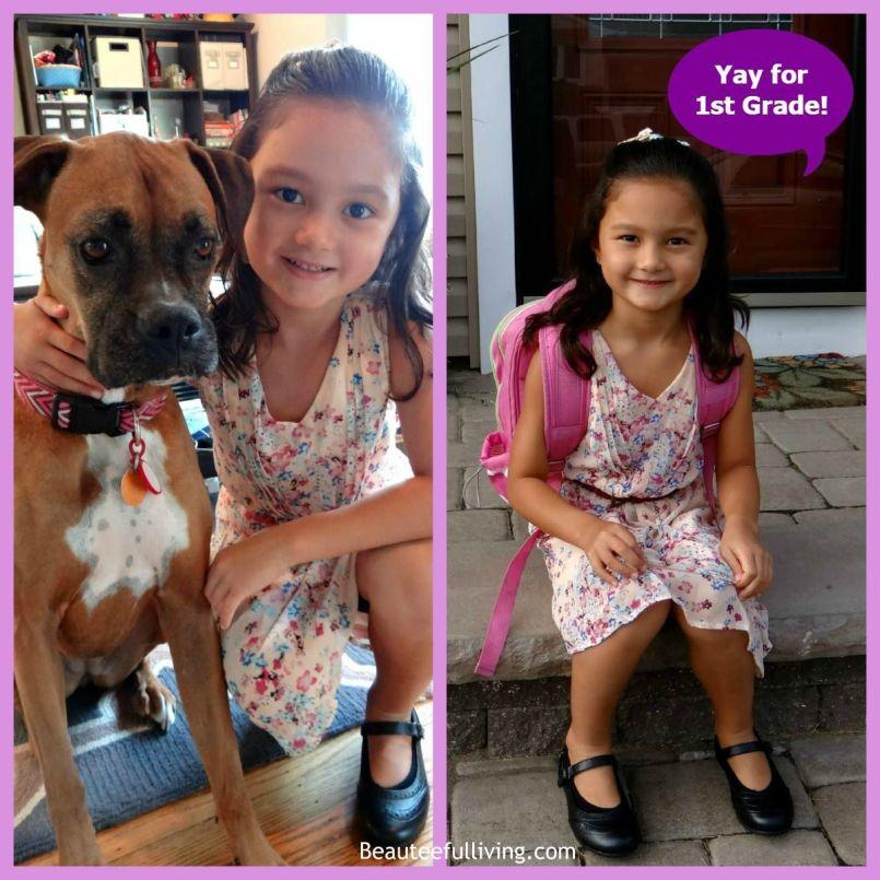 Ellie with Lola School Photo