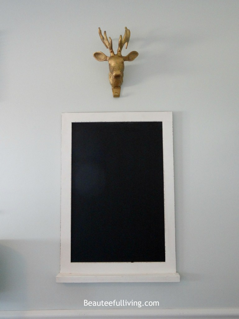 Deer head and Chalkboard Beauteeful Living