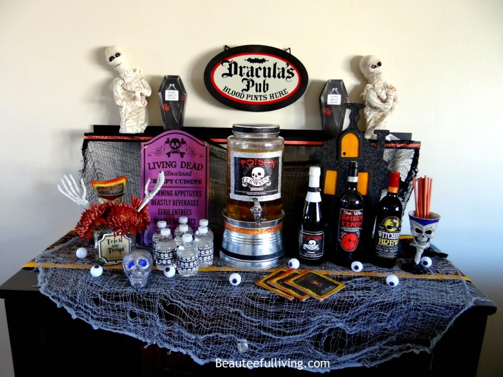 Halloween spooky bar - Beauteeful Living