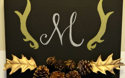 Monogrammed Fall Canvas Art