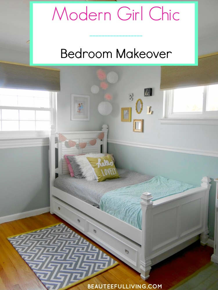 Chic Girls Room Makeover - Beauteeful Living
