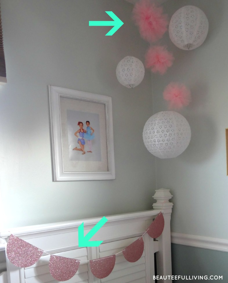 DIY pom poms and garland - Beauteeful Living