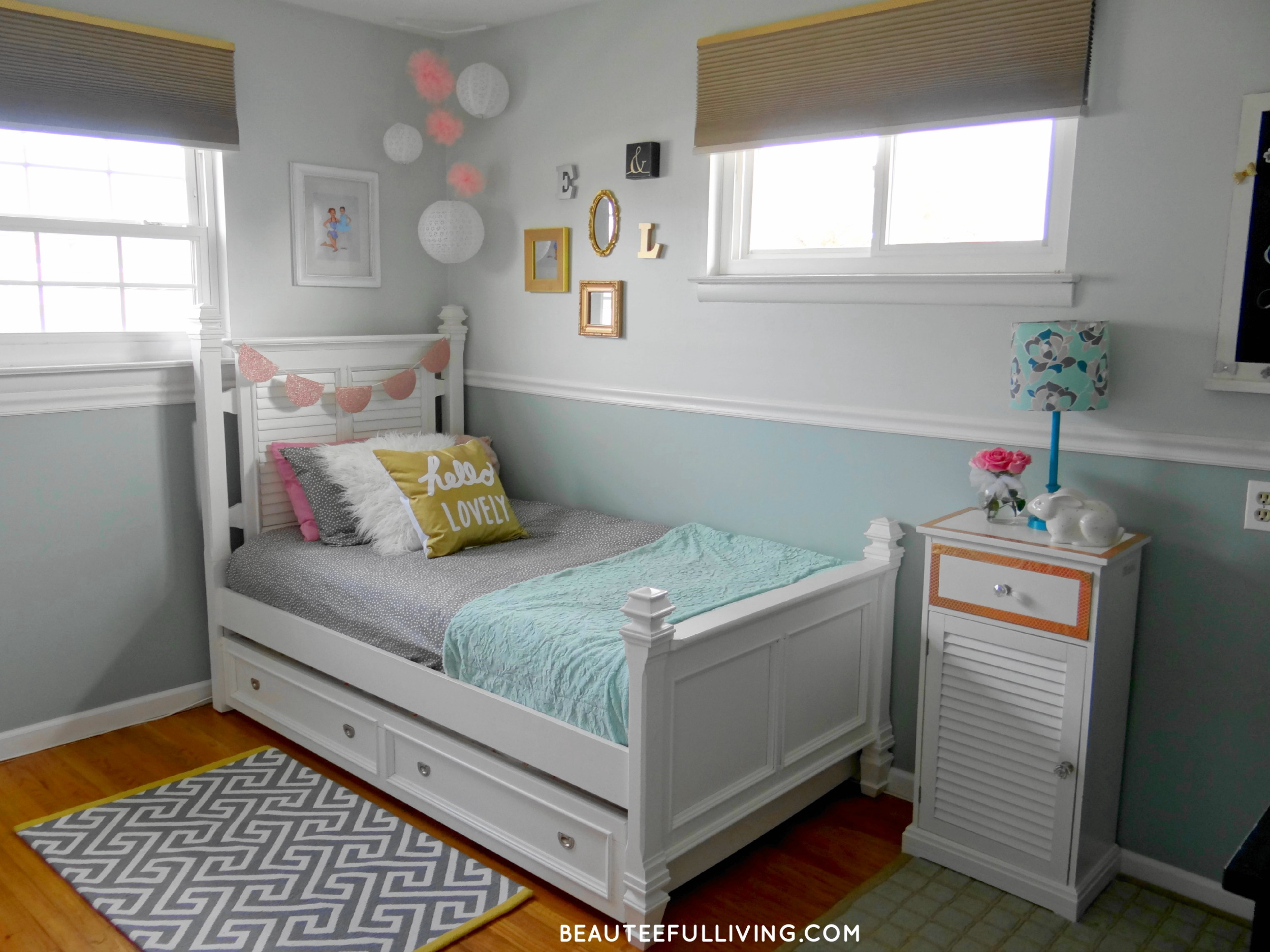 Girls Room Makeover Final Reveal e Room Challenge