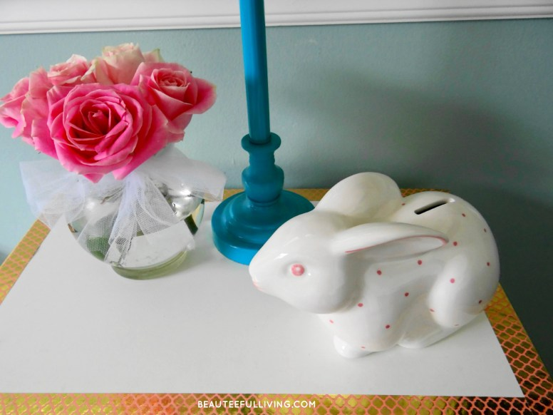 Tiffany and co bunny piggy bank - Beauteeful Living