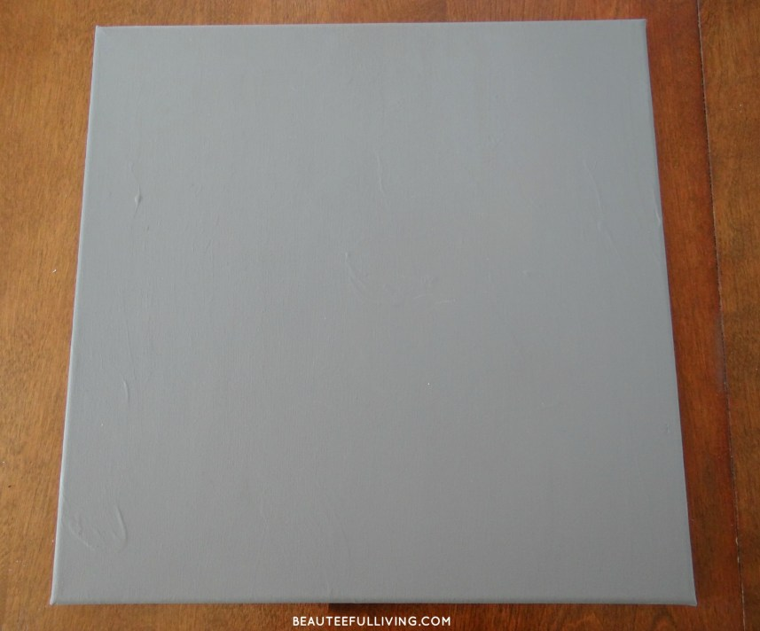 Gray painted canvas