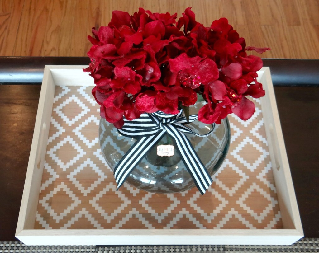 Serving Tray with floral decor