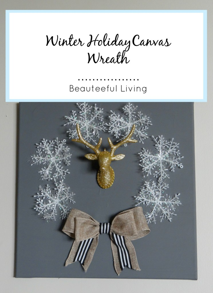 Winter Holiday Canvas Wreath - Beauteeful Living