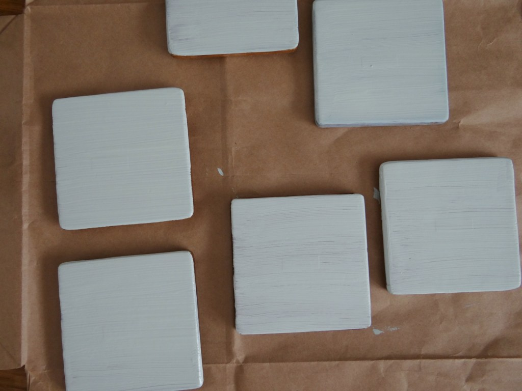Chalk paint over coasters