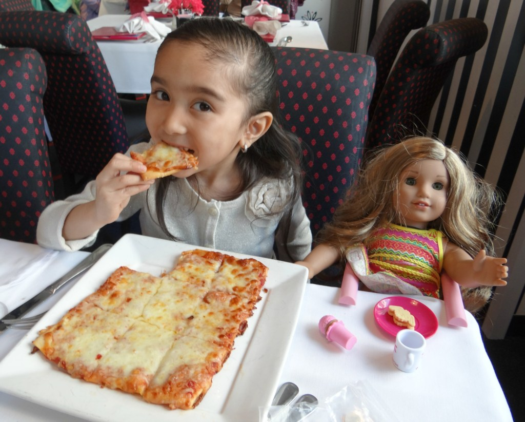 American Girl Cafe pizza