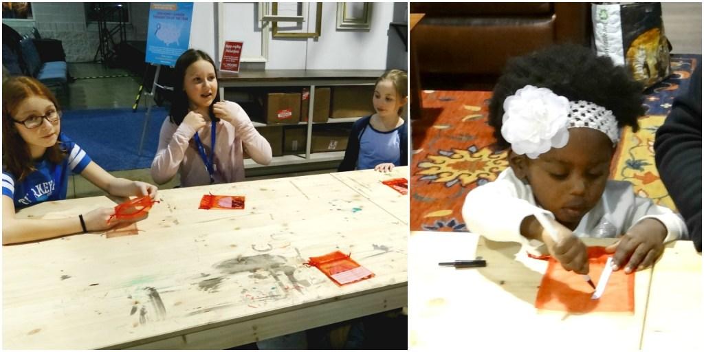 Kids at Make and Take Craft