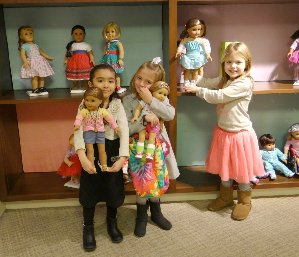 The kids with their AG dolls