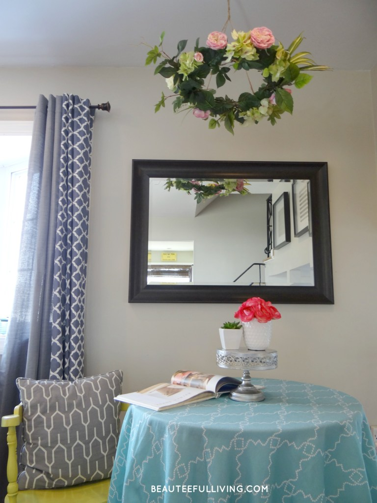 Floral Chandelier in room - Beauteeful Living