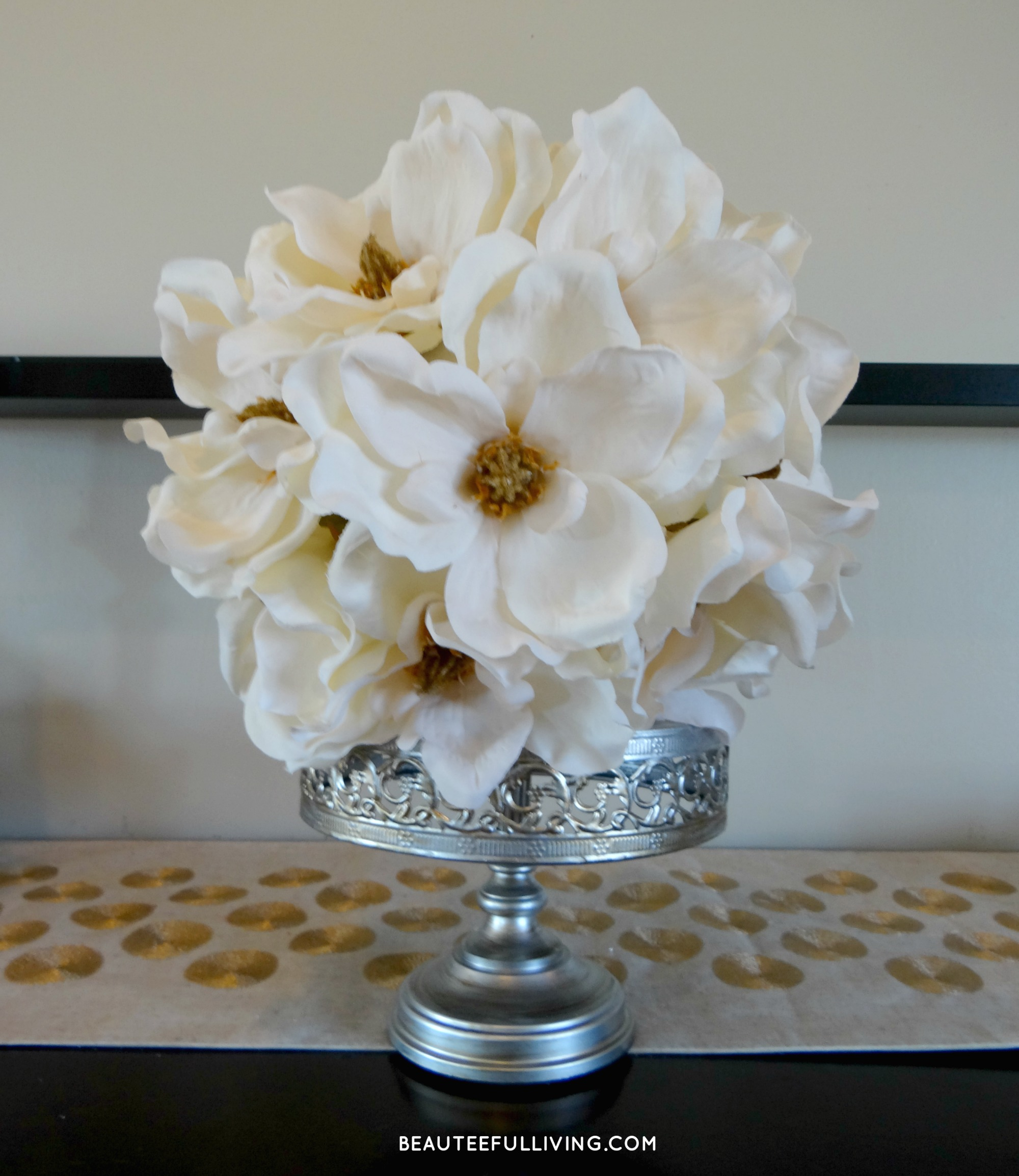 Magnolia Flower Ball DIY | BEAUTEEFUL Living