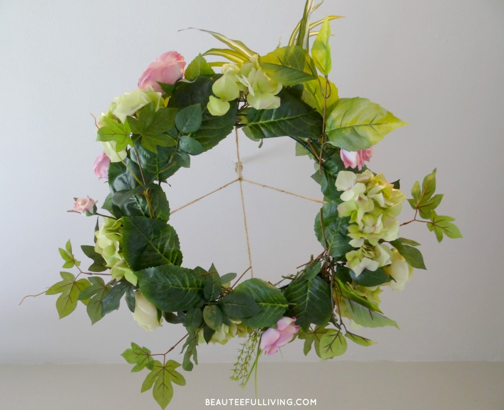 Silk Floral Chandelier Bottom View - Beauteeful Living