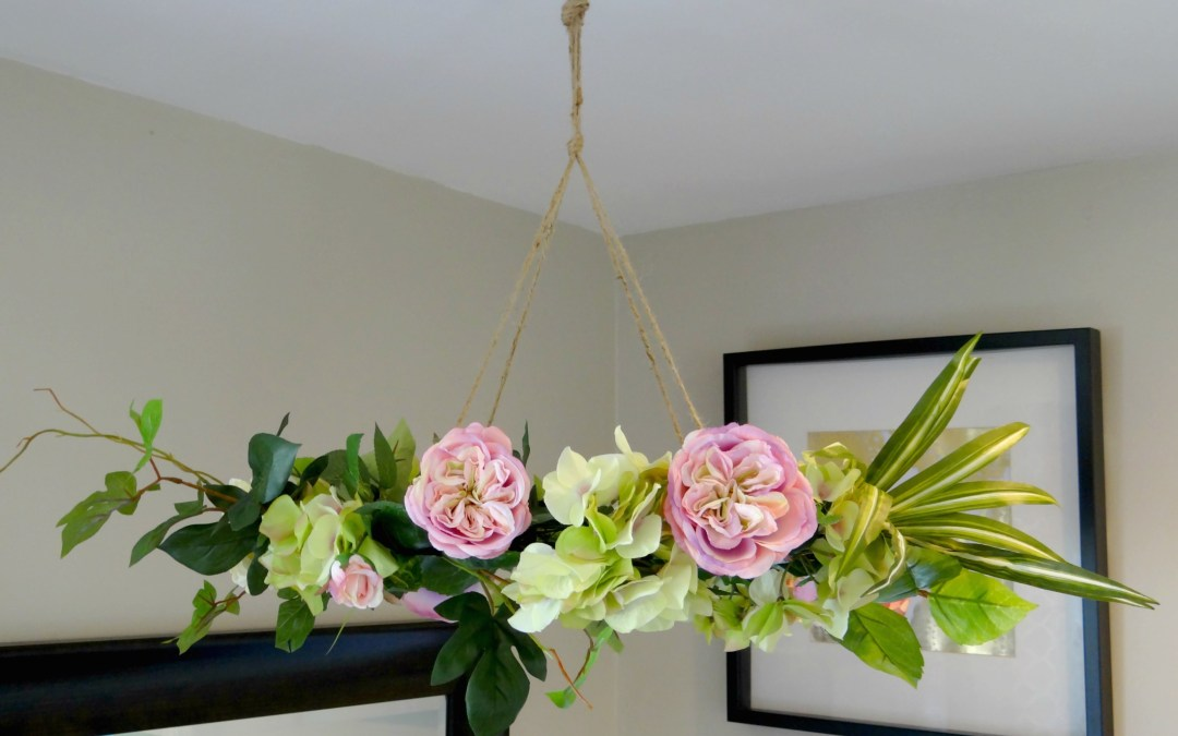 Hanging Floral Chandelier DIY