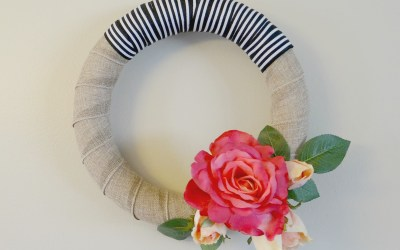 Modern Rose Bloom Wreath