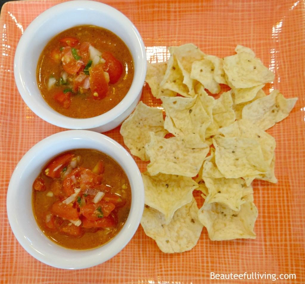 Bruschetta salsa with chips