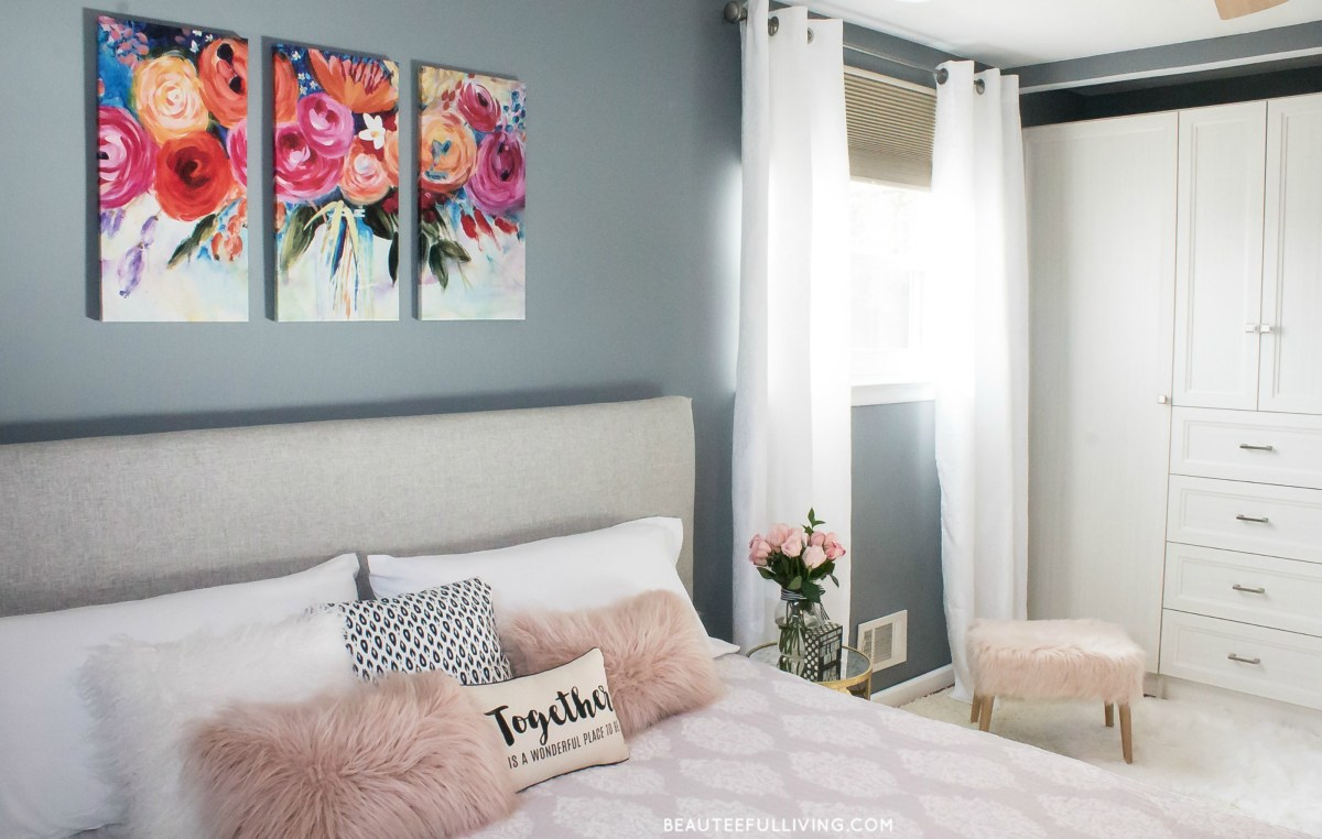 Modern Glam Master Bedroom Reveal - Beauteeful Living