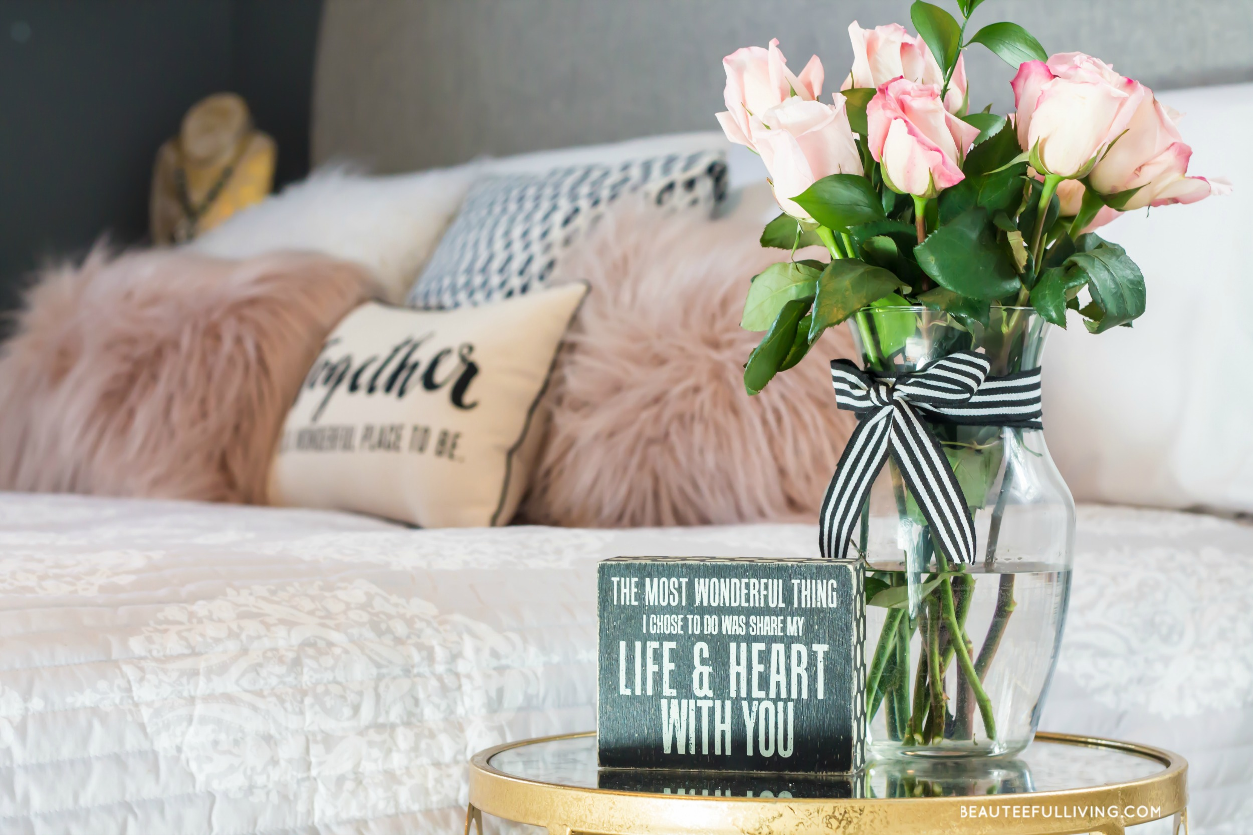 Modern Glam Bedroom Modern Glam Master Bedroom Reveal Beauteeful Living Beauteeful