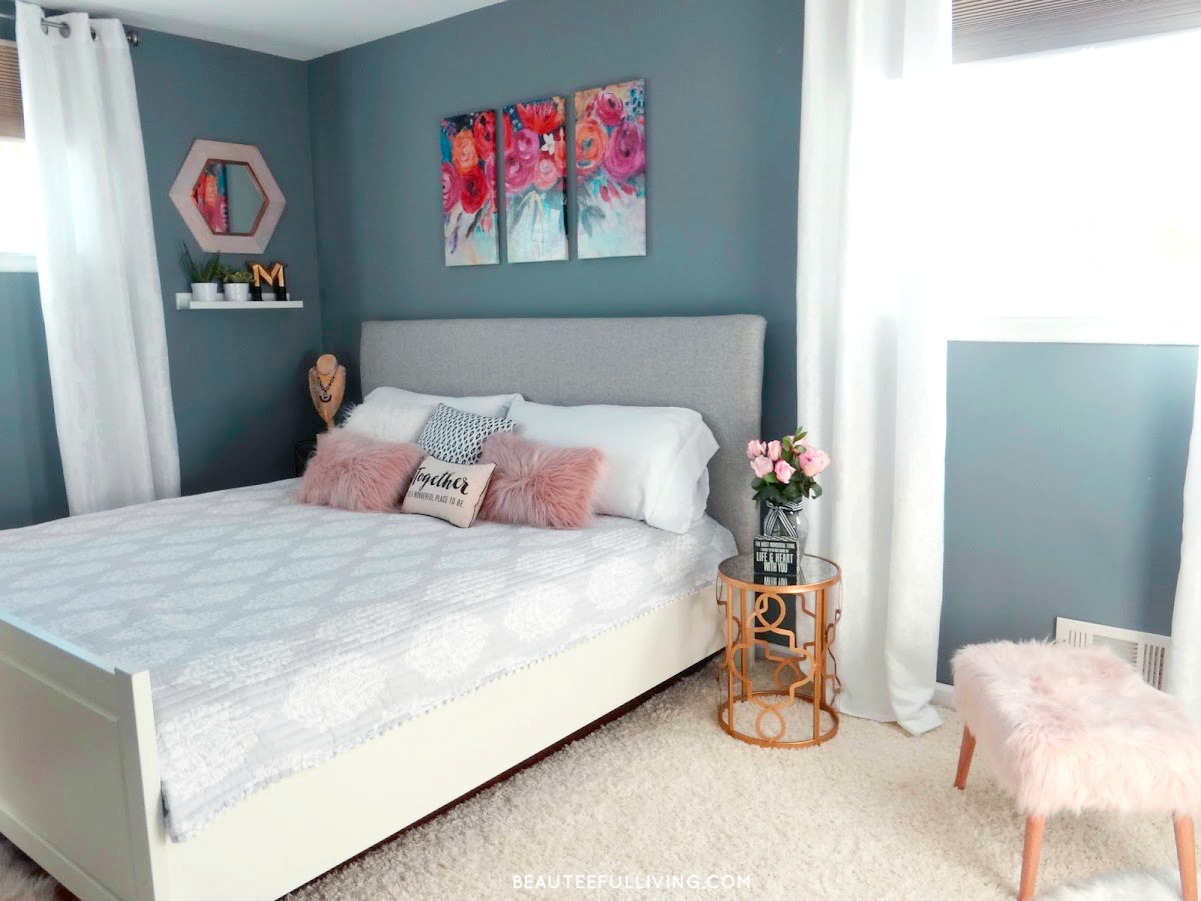 Modern Glam Bedroom Makeover Beauteeful Living
