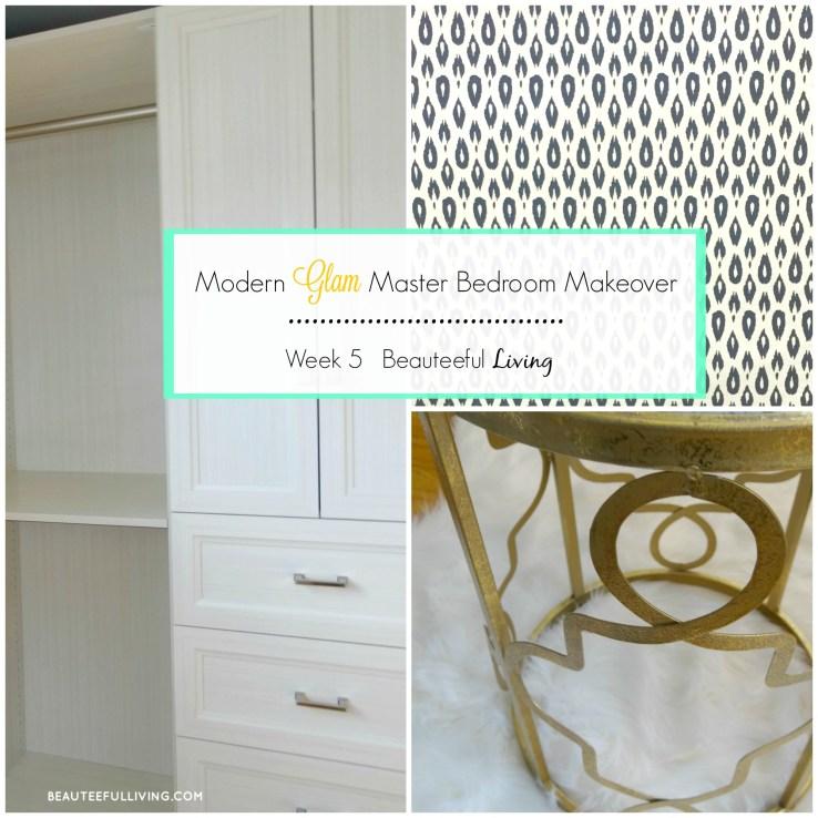Modern Glam Master Bedroom Makeover - Beauteeful Living