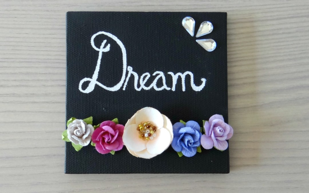 Spring Floral Mini Canvas Art – DIY Tutorial