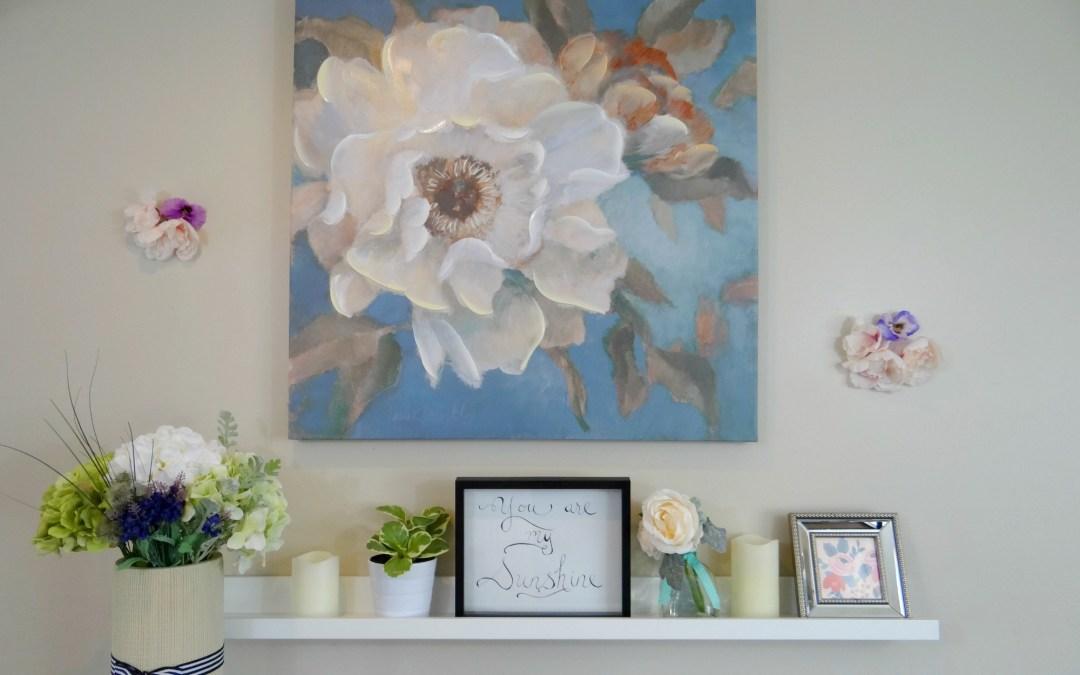 Spring Mantel – Flowers Galore