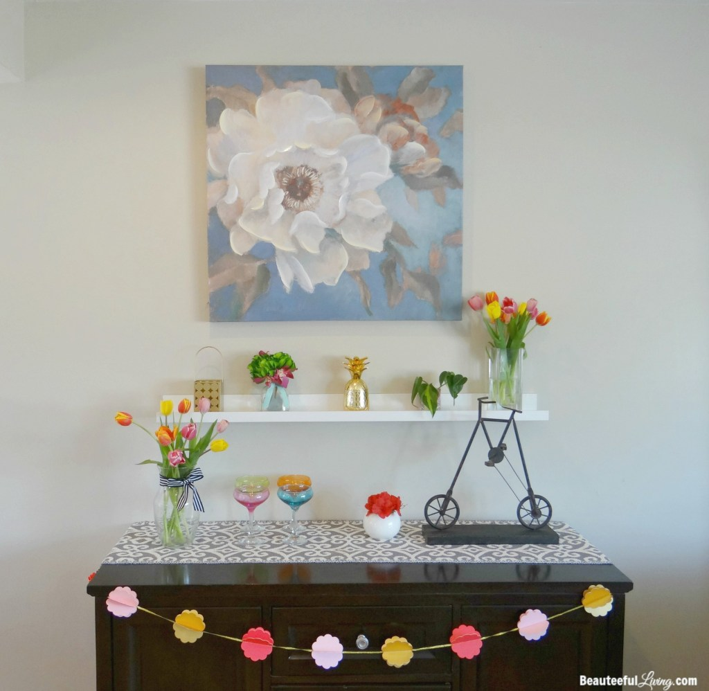 Summer Mantel Display - Beauteeful Living