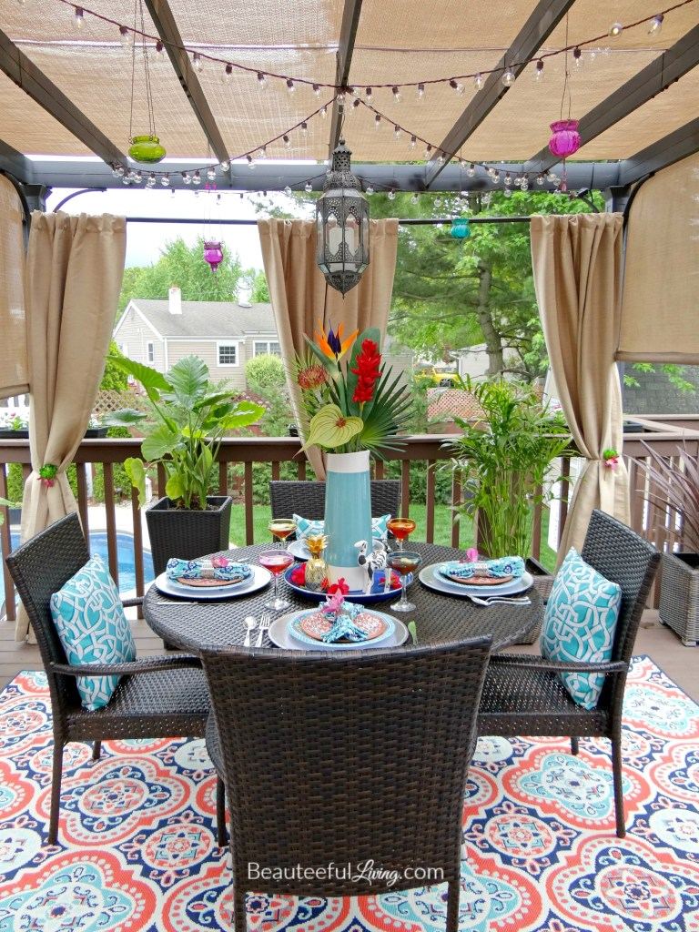 Tropical Patio Dining - Beauteeful Living