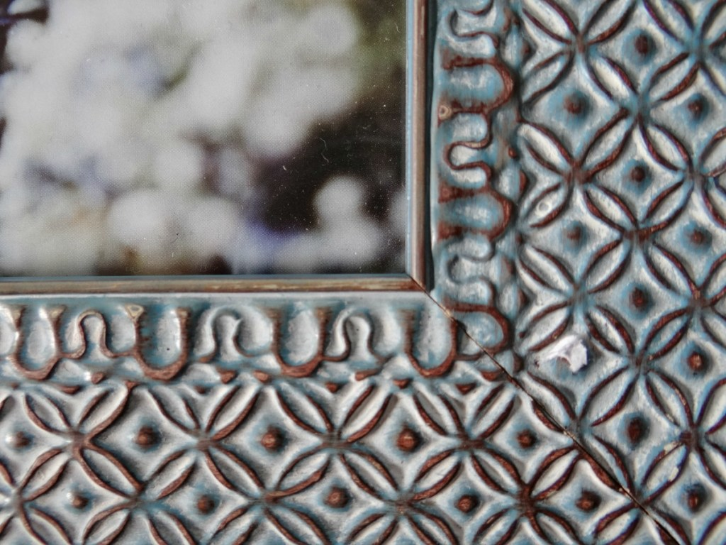 Geometric seagreen picture frame