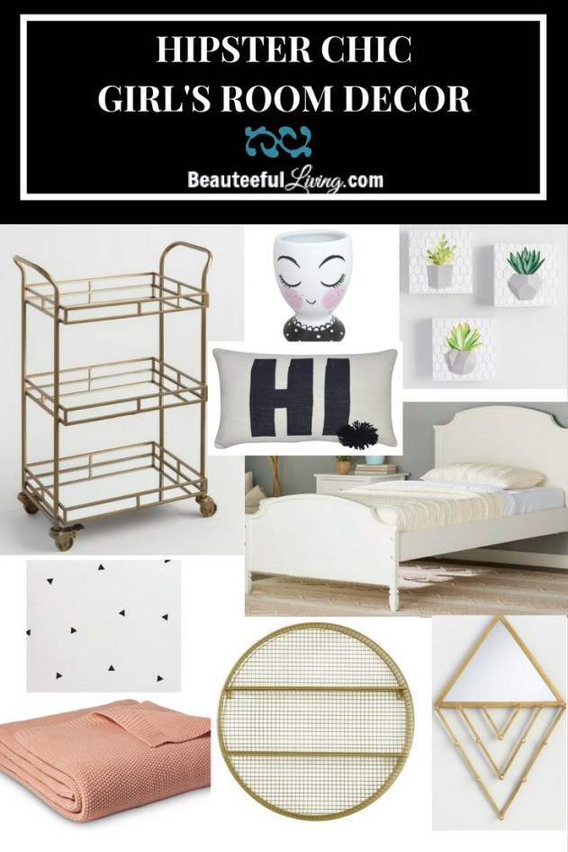 Hipster Chic Girl's Room Decor - Beauteeful Living