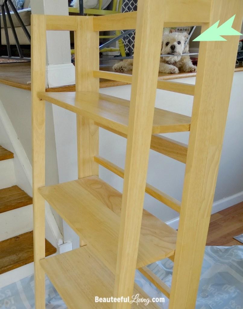 Refinishing shelf