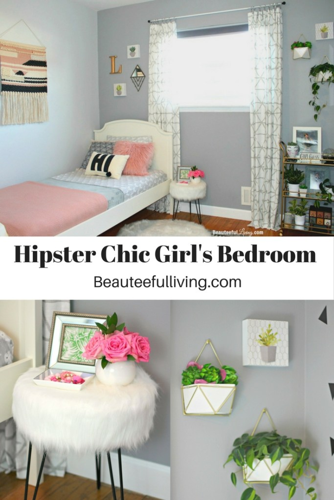 Boho Hipster Chic Girl's Bedroom - Beauteeful Living