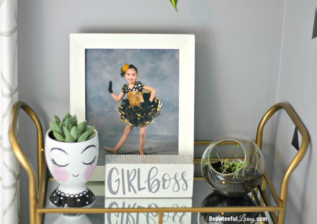 Girl Boss Sign and Gold Cart - Beauteeful Living