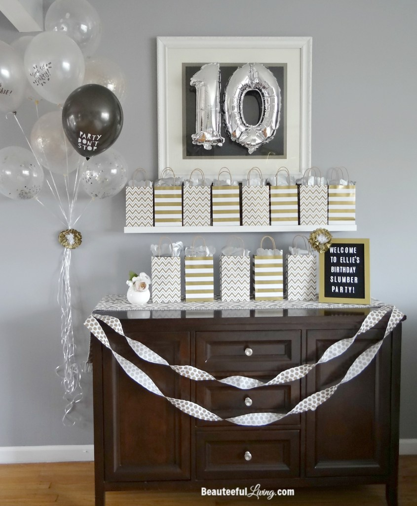 Silver and Gold Birthday Party - Beauteeful Living