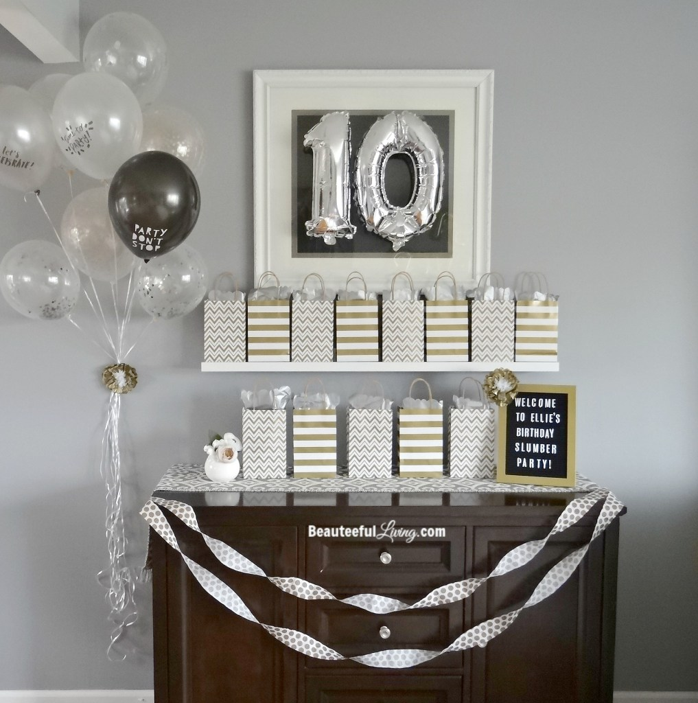 Silver and Gold Girls Birthday Party - Beauteeful Living