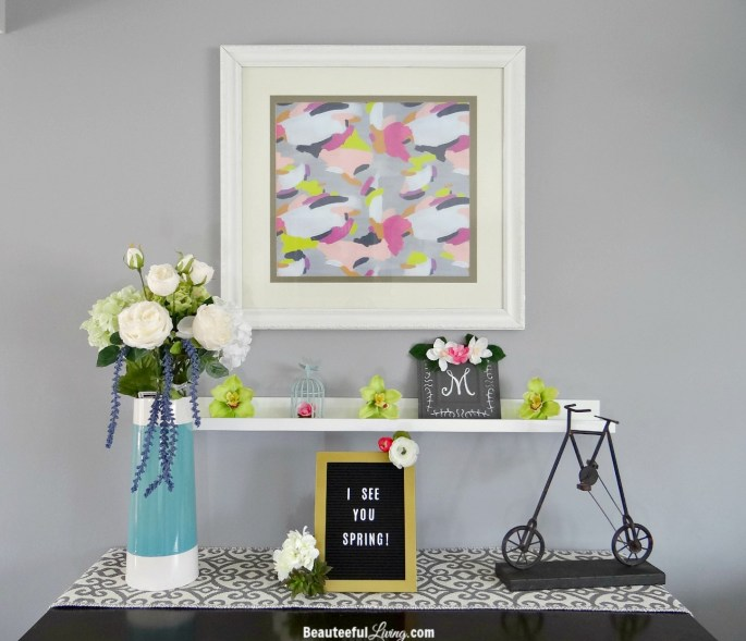 Spring Mantel Display - Beauteeful Living