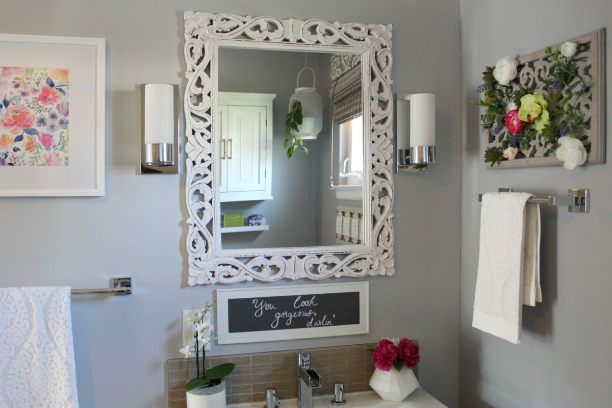 Spa-Inspired Guest Bathroom Reveal - ORC Week 6