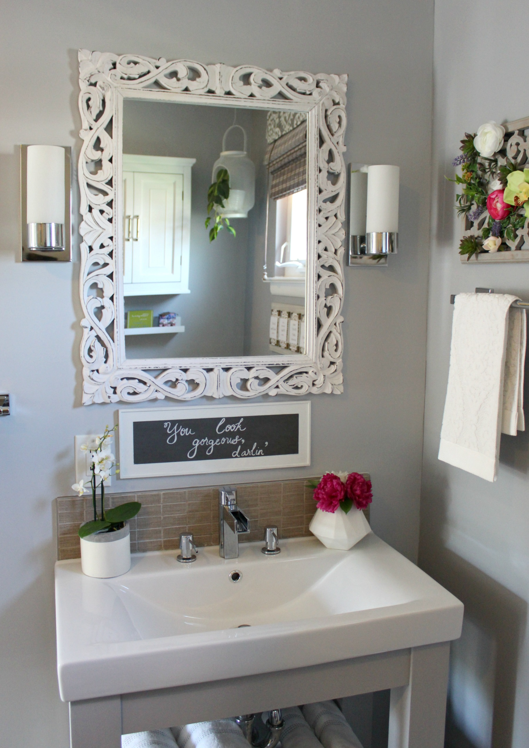 Spa Inspired Guest Bathroom Reveal Orc Week 6 Beauteeful Living