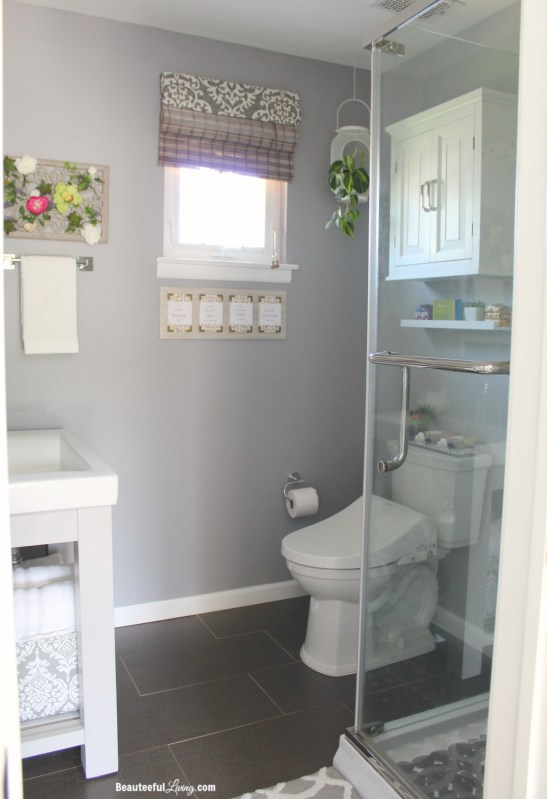 Spa Inspired Bathroom Makeover - Beauteeful Living