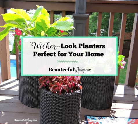 Wicker Look Planters - Beauteeful Living