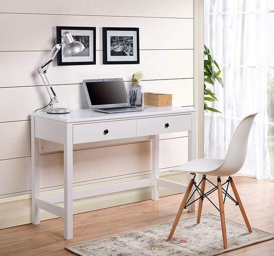 Newport Glam White Desk