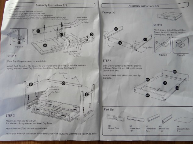 Newport White Desk - Assembly Instructions